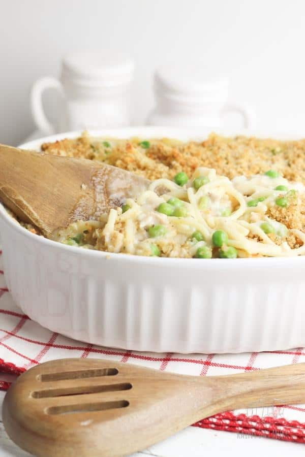 Cheesy Pasta Bake with Leftover Christmas Turkey and Frozen Peas