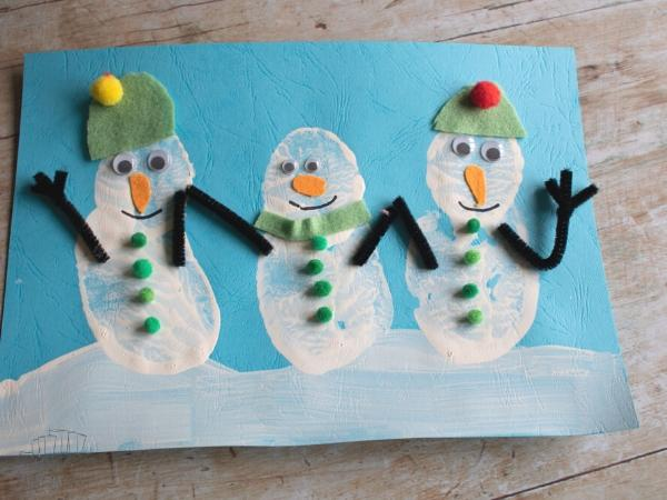 finished snowman picture