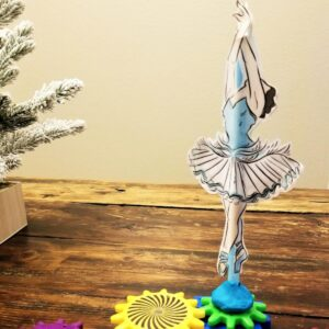 Dancing Ballerina STEM Activity for Kids Inspired by the Nutcracker and looking at the Physics of Ballet