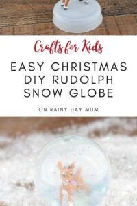 easy Christmas DIY Rudolph Snow Globe