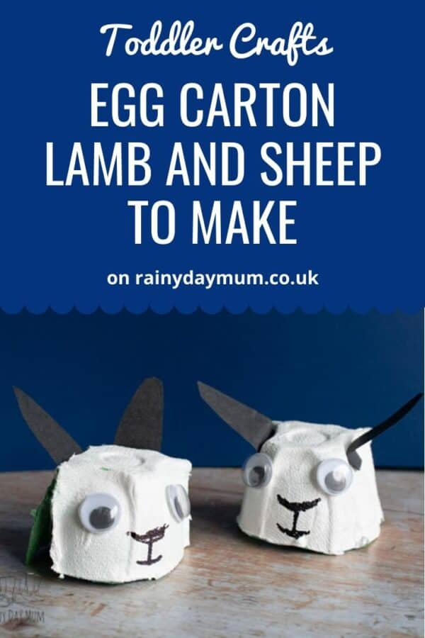 Toddler Craft to Make a Little Lamb and Sheep with Egg Cartons