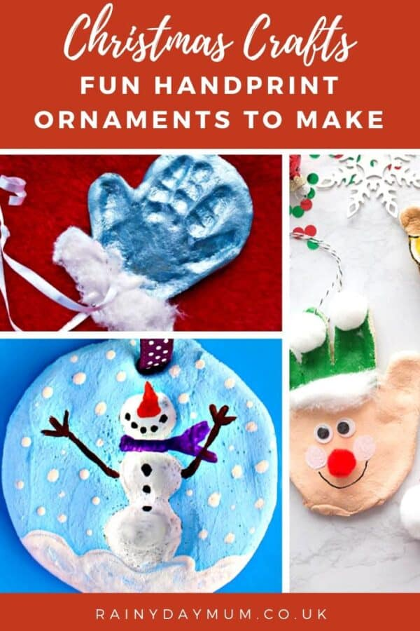 20 Fun Handprint Ornaments to make with kids for Christmas