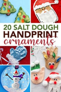 handprint salt dough ornaments to make with kids