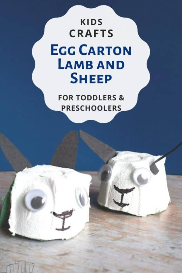 Kids Craft to make Egg Carton Lambs for toddlers and preschoolers