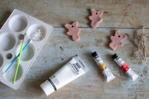 materials needed for painting salt dough ornaments with kids