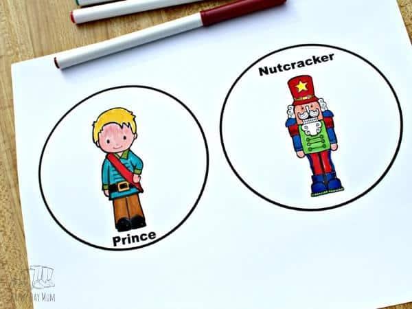 nutcracker printabled coloured