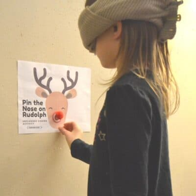 Pin the Nose on Rudolph Coding Game for Kids