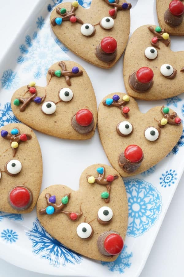 Rudolph the Red Nosed Reindeer Cookies to Cook with Kids at Christmas time