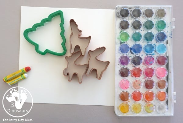 materials needed for Christmas Art Projects