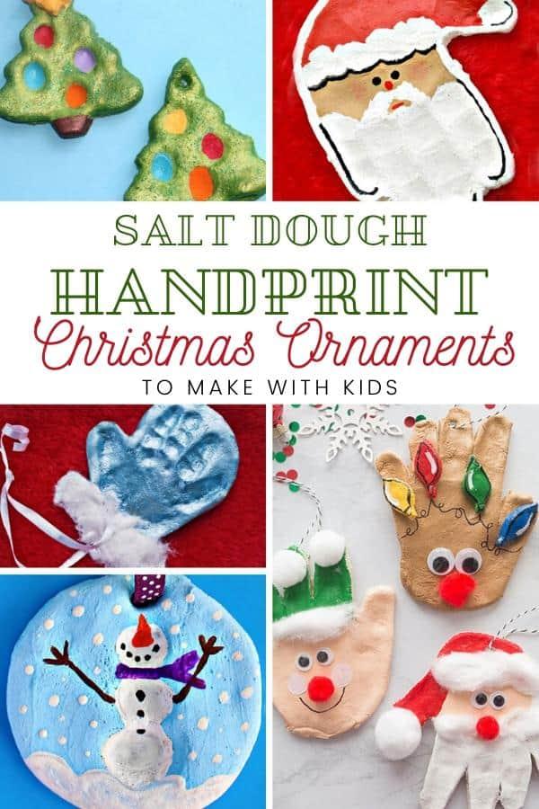 Classic Christmas Crafts for Kids Salt Dough Handprint Ornaments