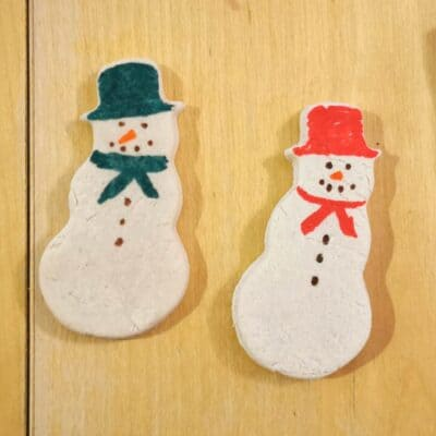 Salt Dough Snowman Decorations