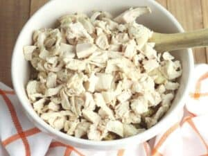 shredded turkey ready for using after Christmas