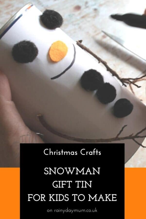 Snowman Gift Tin Craft for Kids to Make