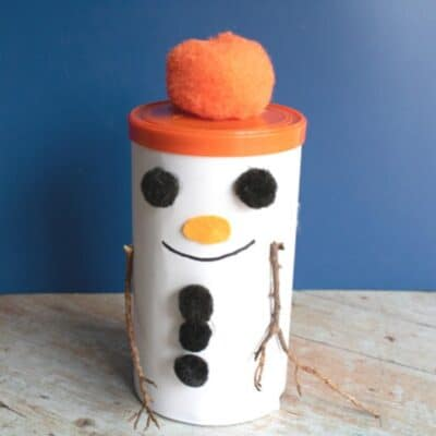 The Snowman – Tin Gift Box Craft for Kids to Make