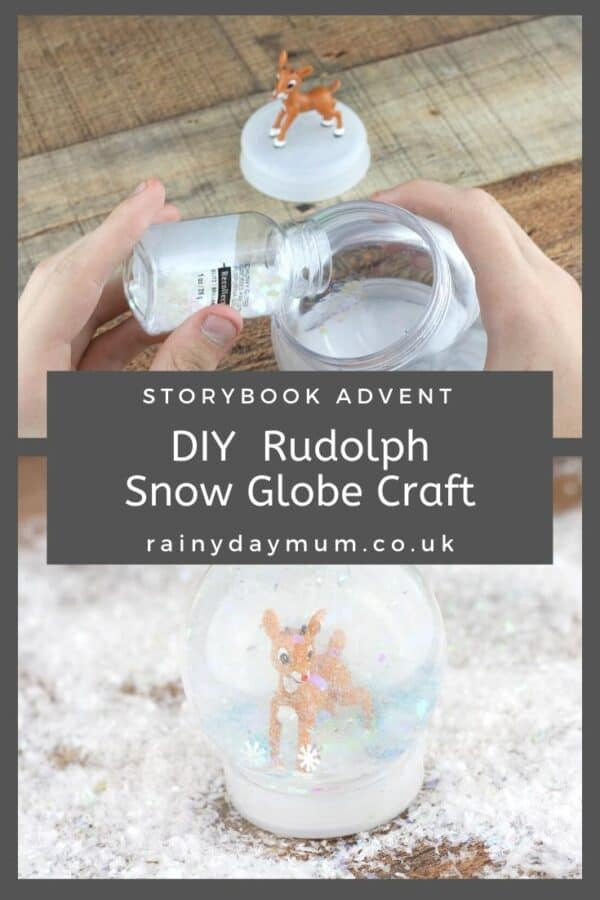 DIY Rudolph the Red Nosed Reindeer Snow Globe Book Based Activity for Kids