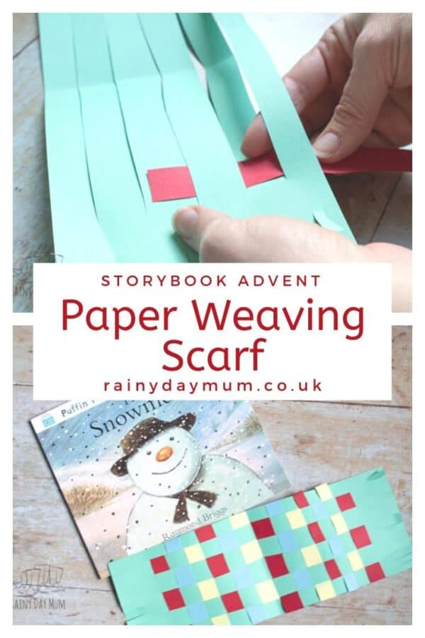 storybook advent The Snowman Paper Weaving Scarf