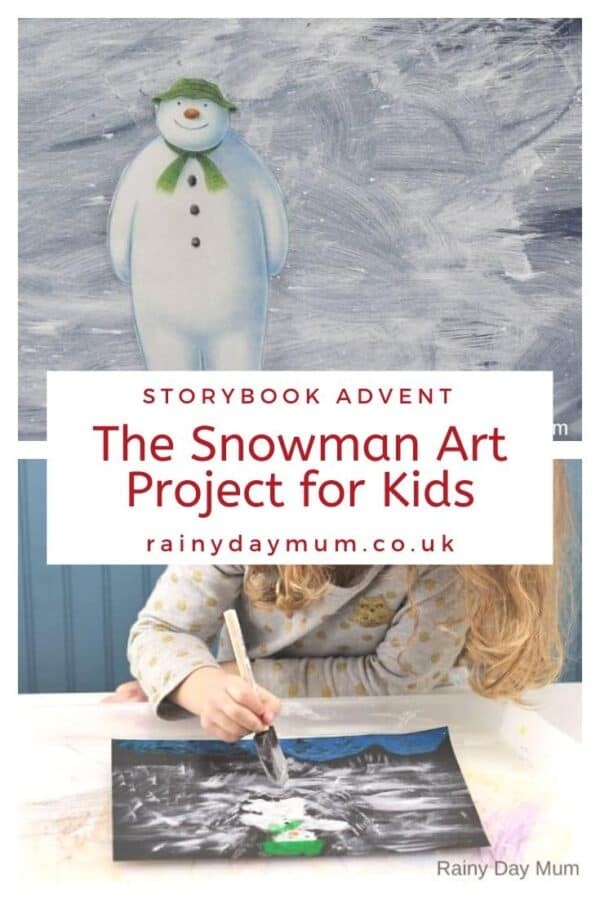 storybook advent the Snowman Art Projects for Kids