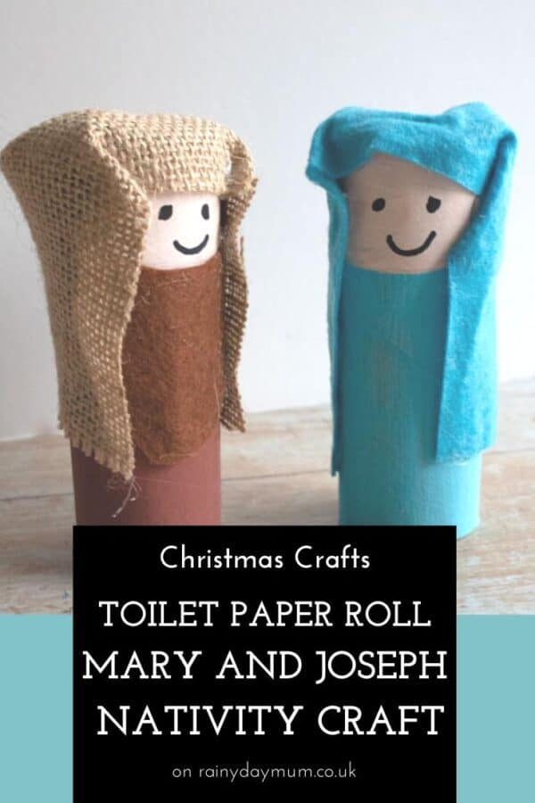 Toilet Paper Roll Tube Mary and Joseph Craft for Kids