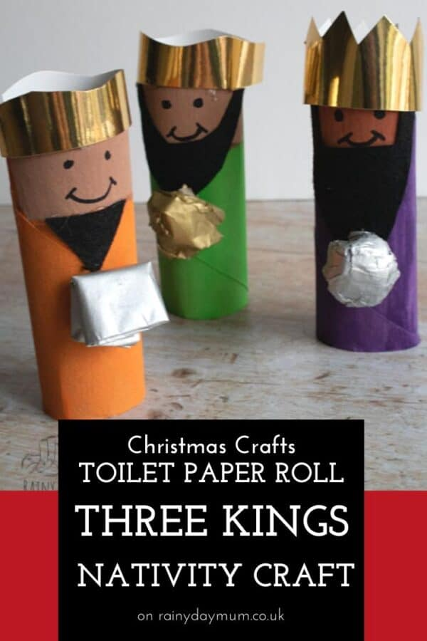 Tp roll Three Kings Nativity Craft for Kids