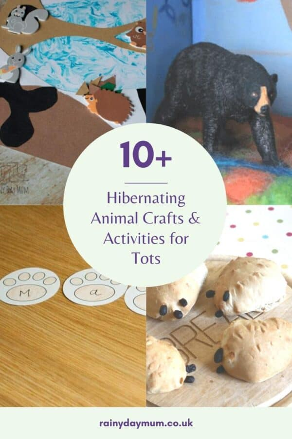 10+ hibernating and winter animal crafts and activities for tots
