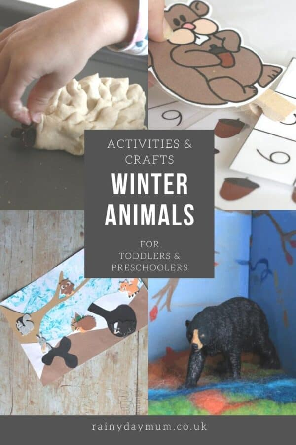 Activities and crafts on the theme of Winter Animals for toddlers and preschoolers