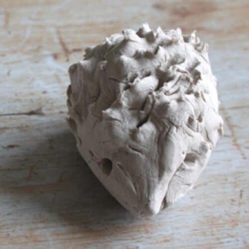 Clay Hedgehog Scissor Skills Craft for Preschoolers