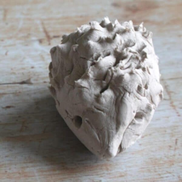 Winter Animal Craft for Toddlers and Preschoolers to make a Clay Hedgehog with cutting practice.