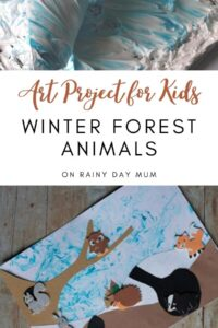 Art projects for kids winter forest animals