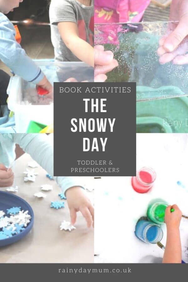 book activities for toddlers and preschoolers inspired by The Snowy Day by Ezra Jack Keats
