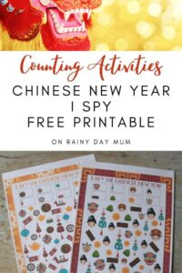 Counting activities for preschoolers - FREE printable Chinese New Year I Spy Game