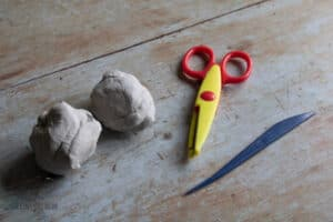 materials for making clay hedgehogs