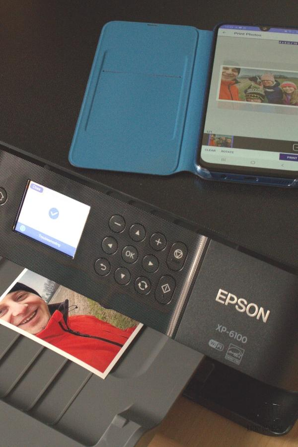 family selfie printing on the Epson Expression XP-6100