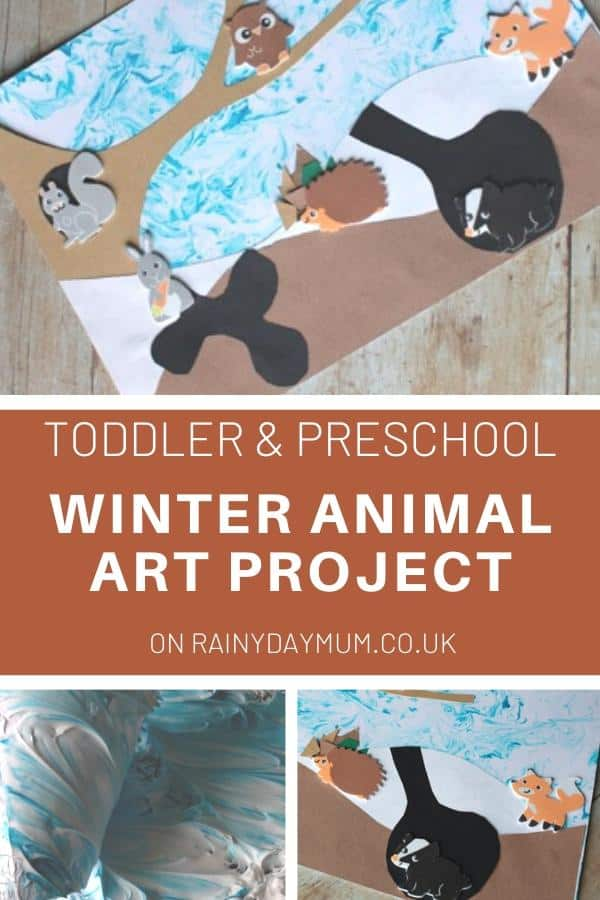 Toddler and Preschooler Winter Animal Art Project