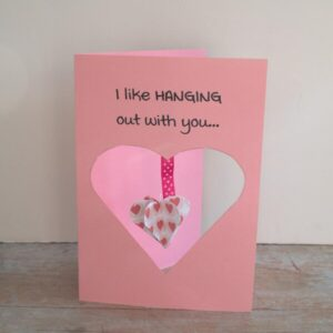 FREE printable 3D Hanging Heart Card Craft for Kids to Make and Send