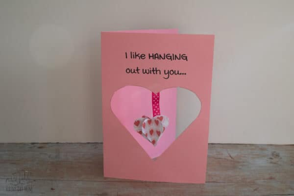 I like hanging with you 3D printed Valentine's Card to make with kids
