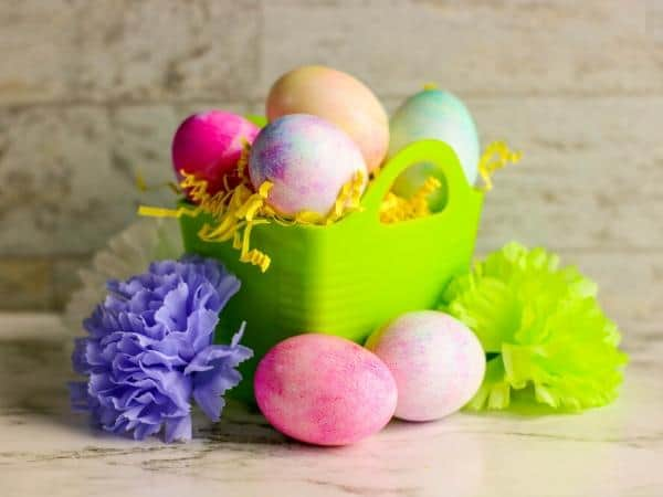 coloured easter eggs to make with toddlers and preschoolers