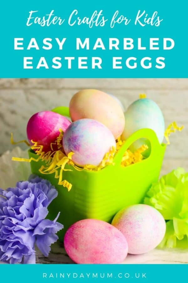 Easy marbled easter eggs