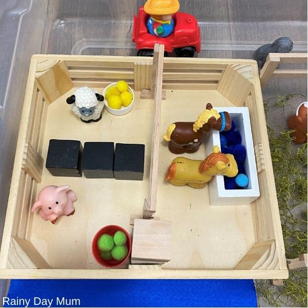 melissa and dough box for farm animals