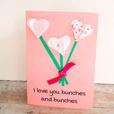Love you Bunches and Bunches 3D FREE Printable Valentine's Day Card