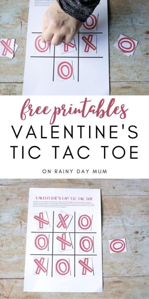 free printables on rainy day mum Valentine's Day Tic Tac Toe Game