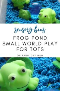 sensory bins five little speckled frogs frog pond for toddlers and preschoolers