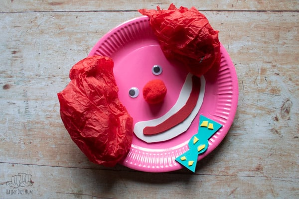 fun clown craft for toddlers and preschoolers