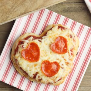 heart shaped pizza recipe to cook with kids