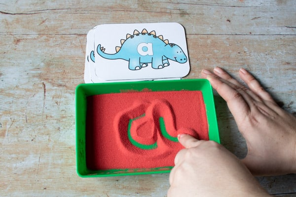 fingers one of the best tools for mark making in a sand tray with toddlers and preschoolers