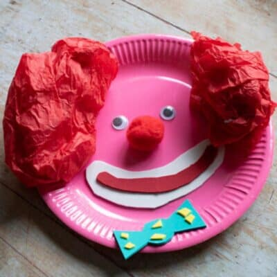 Paper Plate Clown Craft for Toddlers and Preschoolers