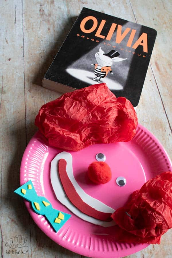 Oliva and the circus clown craft for toddlers and preschoolers