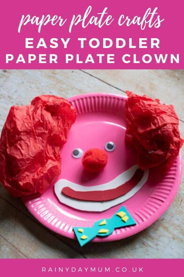 Paper Plate Craft Clown Face