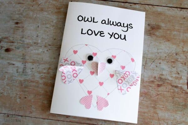 owl always love you 3d kids printable valentines card to download and create