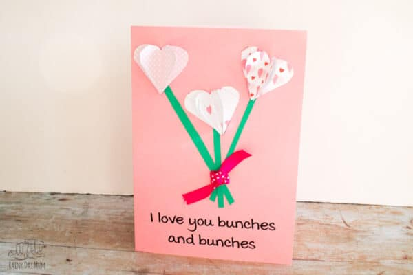 i love you bunches and bunches printable 3d valentines card to make with kids