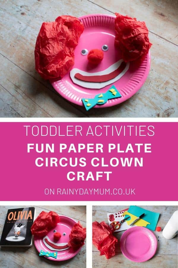 Toddler Activities - Fun Paper Plate Circus Clown Craft